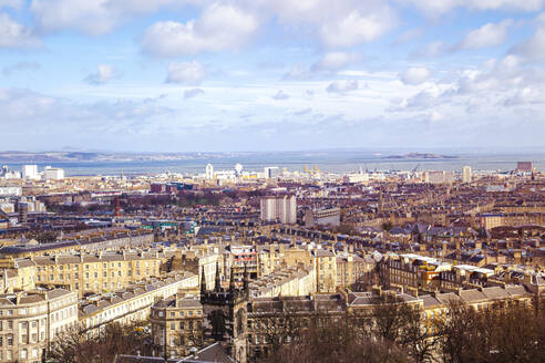 UK, Scotland, Edinburgh, Cityscape, aerial view - FLMF00345