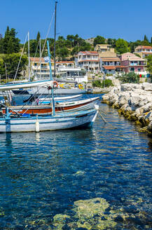 Fishing boats in the harbor at Kassiopi, Corfu, Greece - MHF00534
