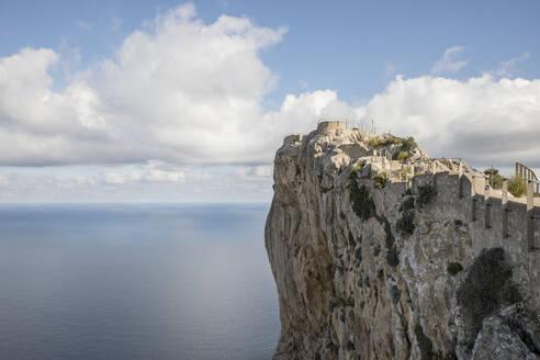 Aerial view of clouds over Cap de Formentor headland - JMF00531