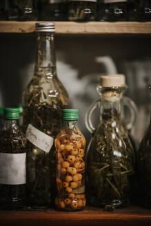 Variation of food preserved in bottle - MJRF00332