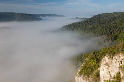 Cloudscape over Danube Valley at Beuron, Swabian Alb, Germany - FDF00326