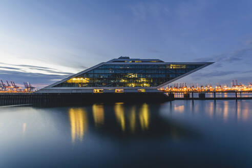 Germany, Hamburg, Dockland at blue hour - KEBF01779