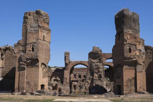 Italy, Rome, Baths of Caracalla ruins, circa 537 AD, city landmark - ABOF00634