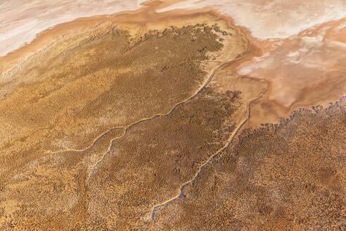 Australia, Northern Territory, Aerial view of Lake Amadeus in Uluru-Kata Tjuta National Park - FOF12091