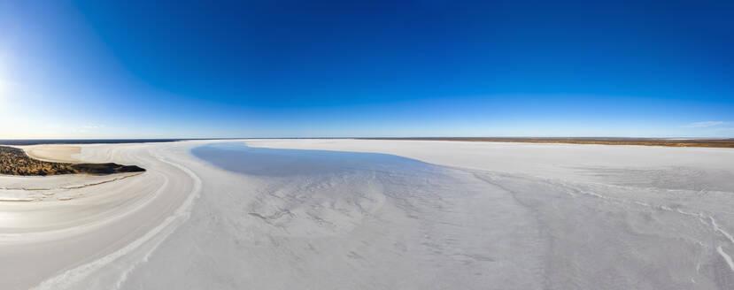 Australia, South Australia, Aerial view of salt lake in Lake Hart Area - FOF12109