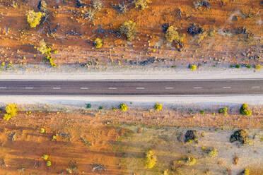 Australia, South Australia, Aerial view of Stuart Highway in Lake Hart Area - FOF12112