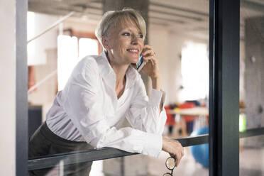 Deutschland, NRW, Oberhausen, Loft, Business, Büro, Coworking, Homeoffice, Frau, 47 Jahre - MOEF03570
