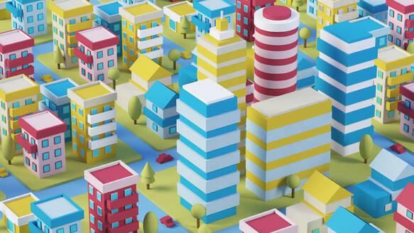 Cartoon colorful city - JPSF00081